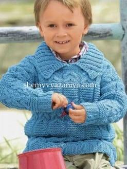 Детский пуловер рельефным узором
