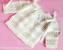 Детский пуловер с круглой кокеткой