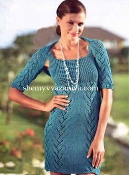 Комплект: платье и шраг