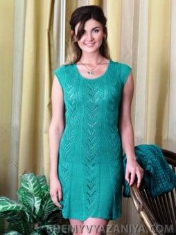 Комплект: Жакет из фасонной пряжи и платье