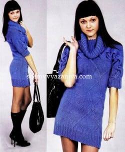 Платье с поперечной косой