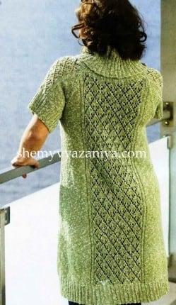Платье с короткими рукавами и широким воротником