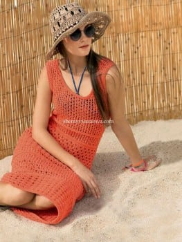 Летнее платье сочетанием узоров