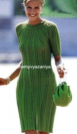 Облегающее платье узором ажурные веера