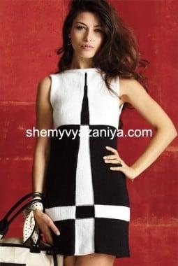Платье А-образной формы из двухцветных блоков