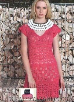 Ажурное платье с каймой