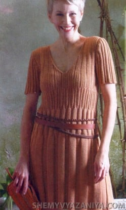 Платье узором резинка