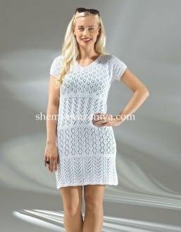 Платье смешанными ажурными узорами