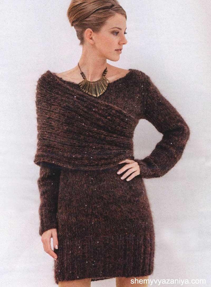 вязание платьев круговыми спицами