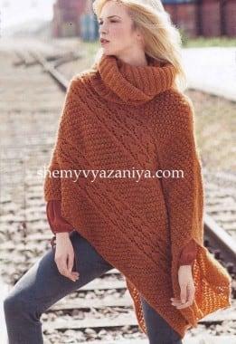 Асимметричное пончо и шарф-петляg