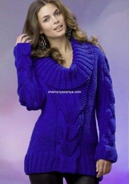 Пуловер с жемчужным узором