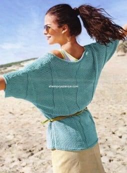 Пуловер с пирамидальной формой узора