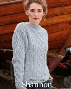 Пуловер с горловиной лодочка