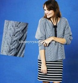 Свободный пуловер с косами