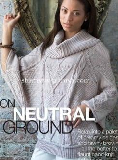 Пуловер-пончо с рукавами летучая мышь
