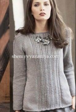 Пуловер А-образной формы