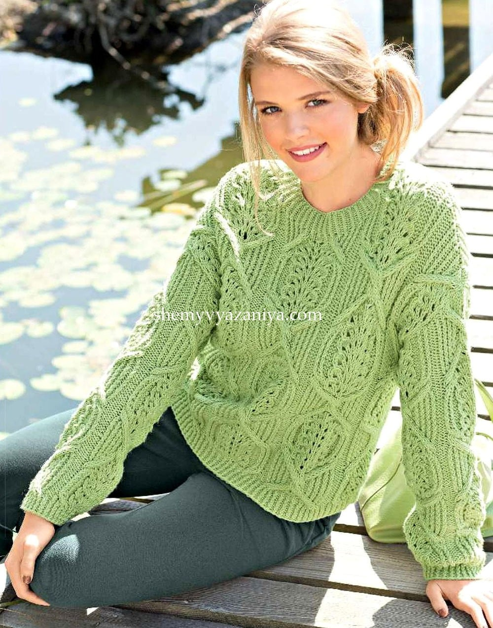 e0f82349cd49 Пуловер спицами - Схемы вязания