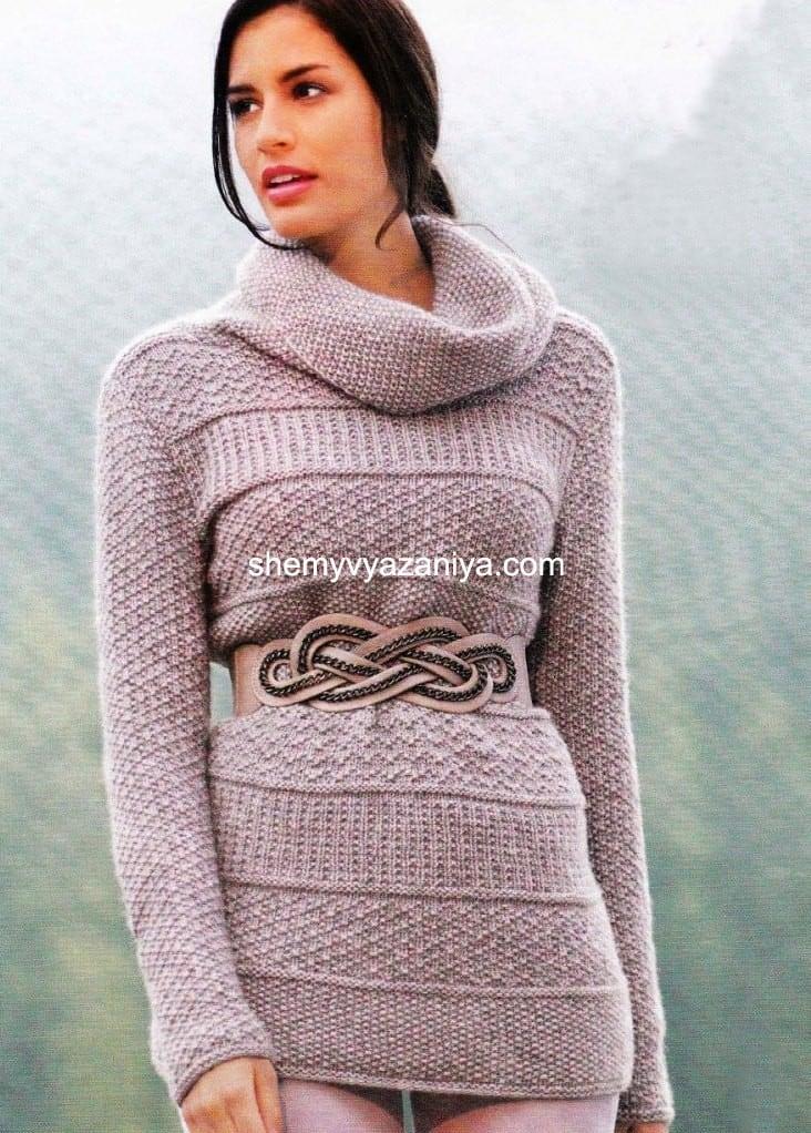 вязаные свитера спицами схемы вязания