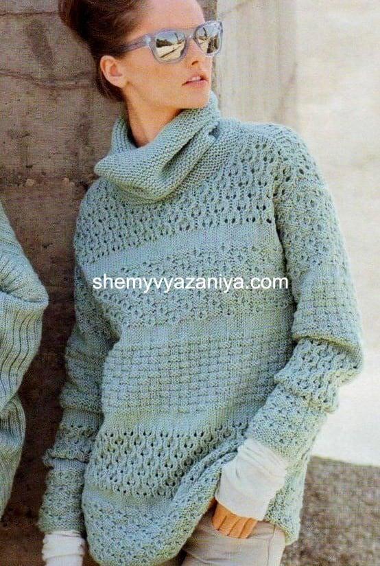 вязание свитера спицами схемы вязания