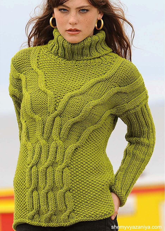Схемы вязания свитеров с рисунком