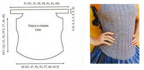 Платье-баллон (вязаный топ)