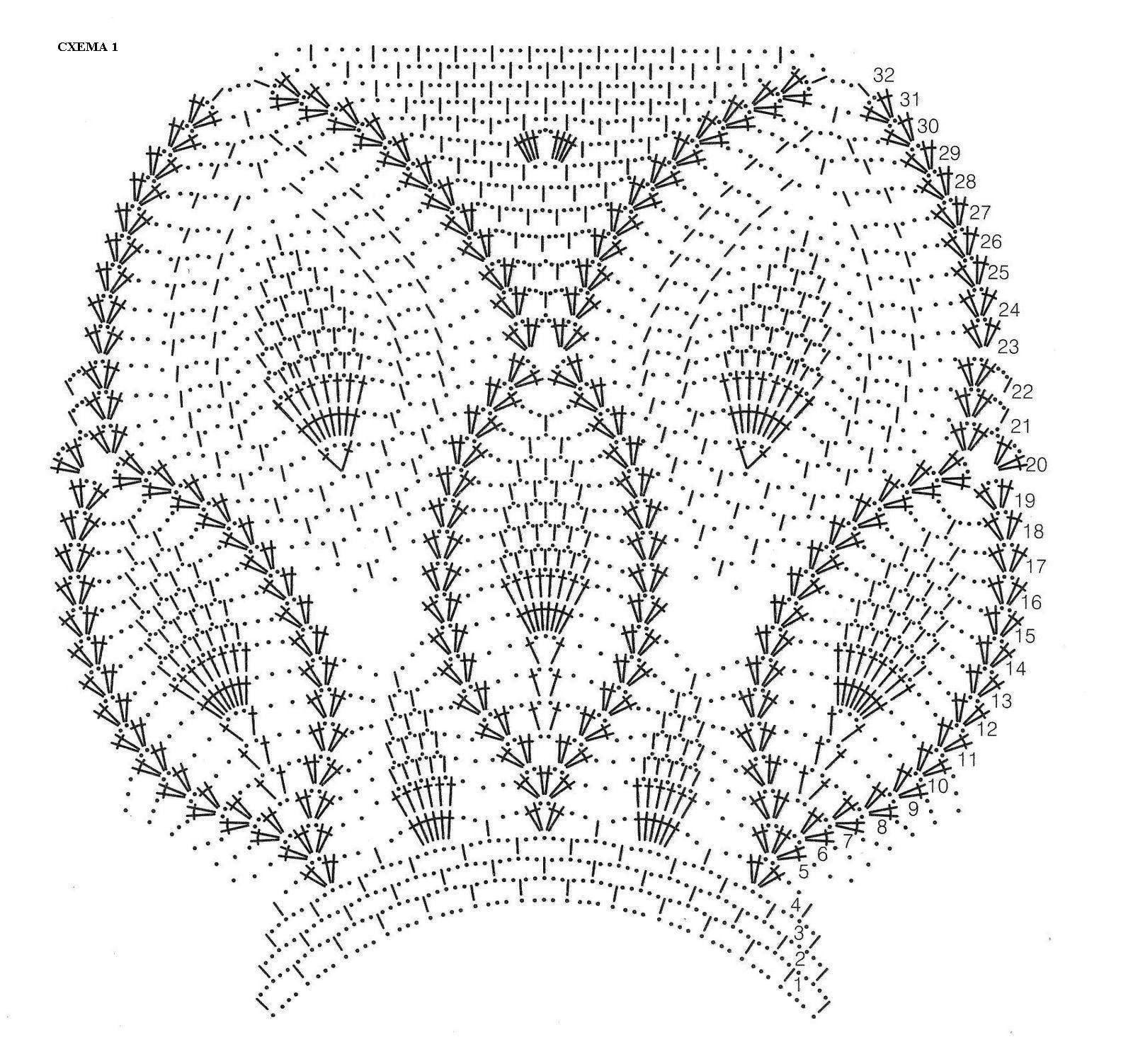Кофточка ананасами крючком схемы и описание