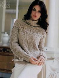 Пуловер с ленточкой