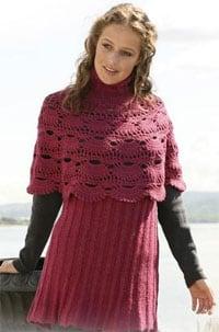 Комплект пончо и юбка
