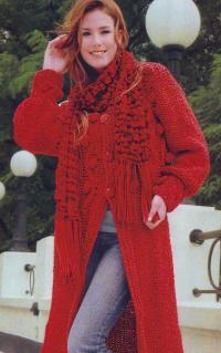Пальто и шарф