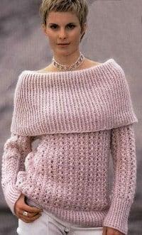 Пуловер с широкими планками