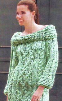 Пуловер из фантазийных узоров